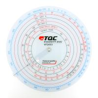 TQC VF2053 粘度对照表盘 各种标准粘度杯快速换算对照表
