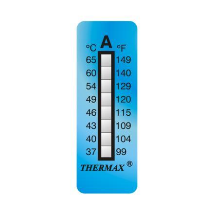 英国Thermax(TMC) 温度美8格A板温纸 温度37~65℃图片