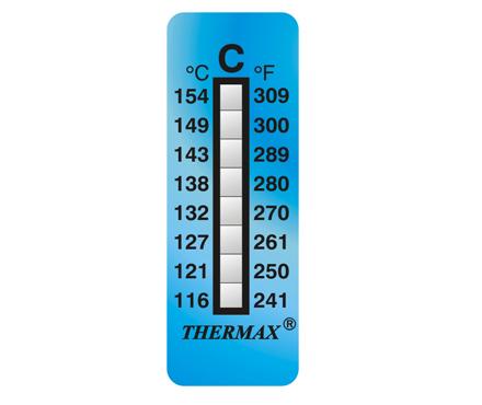 英国Thermax(TMC) 温度美8格C温度标签纸 型号08STHERNGCD