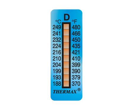 英国Thermax(TMC) 10格D 温度标签型号10STHERNGDD