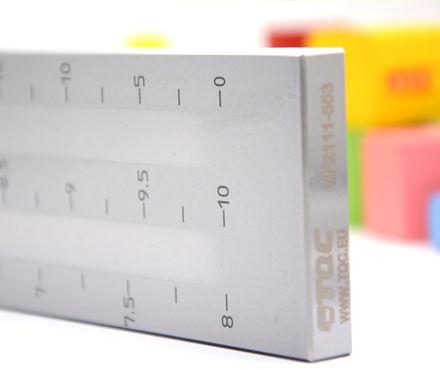 TQC VF2111双槽细度板刻度细节实拍图