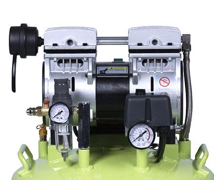 硅萊GA-61靜音無油空壓機泵頭細節圖