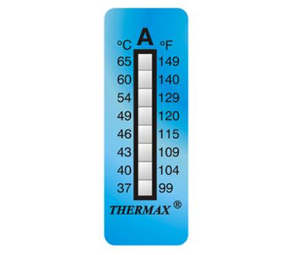英国Thermax(TMC) 温度美8格A板温纸 温度37~65℃