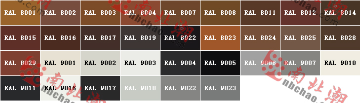 德國RAL K7勞爾色卡-色號對照表02