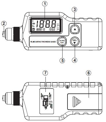 标智gm220 涂层测厚仪 结构图