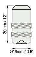 Defelsko PosiTector 6000系列涂層測厚儀FXS Xtreme探頭尺寸圖
