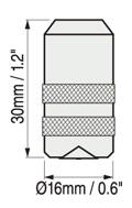 美國Defelsko PosiTector 6000涂層測厚儀FTS探頭尺寸圖