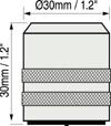 美國Defelsko PosiTector 6000涂層測厚儀FNTS,FKS,NKS探頭尺寸圖