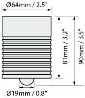 美國Defelsko PosiTector 6000涂層測厚儀FLS探頭尺寸圖