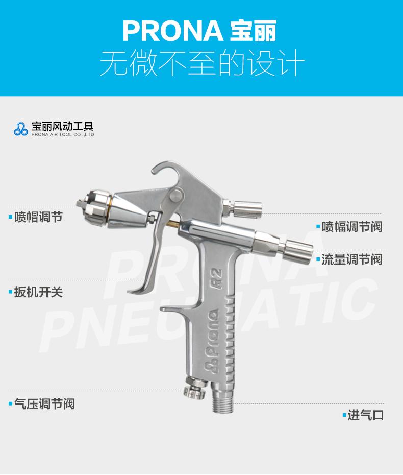 宝丽R2-R0.8五金喷枪结构图