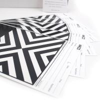 美国Leneta 9A 罩光油遮盖力纸 黑白相间条纹