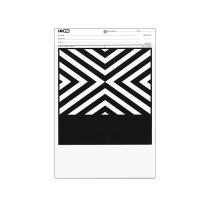 美国Leneta Form 9B 罩光油遮盖力纸 黑白相间条纹