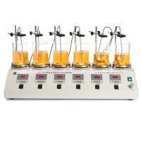 常州荣华 HJ-6A 数显恒温六头磁力搅拌器