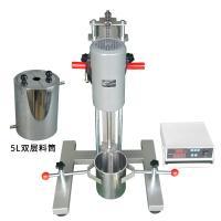 高速分散机 齐威 FS-400D数显高速分散机 电动升降款 配5升双层料桶