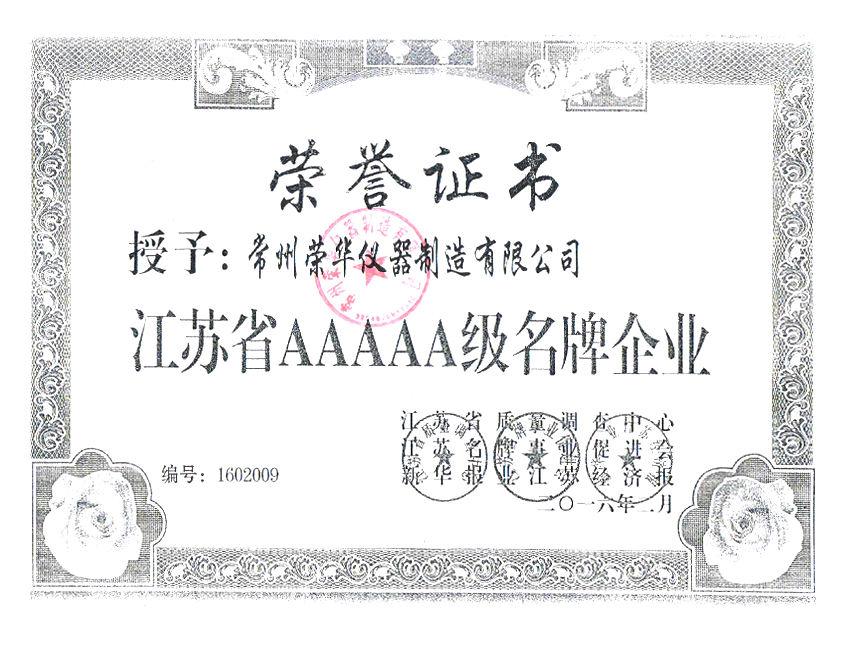 品牌企业证书