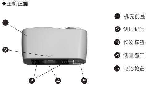 科仕佳MG6-F1涂料光泽度仪正面结构图