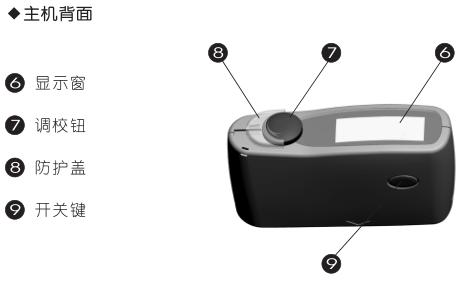 科仕佳MG6-F1涂料光泽度仪背面结构图